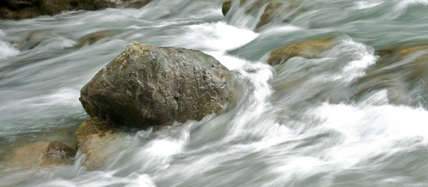 Rock in river life balance